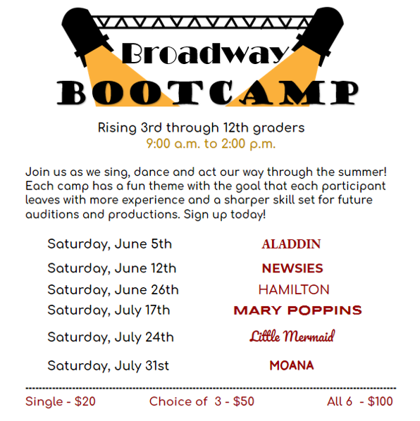 """The Talent Company presents Broadway Bootcamp – """"Mary Poppins"""""""